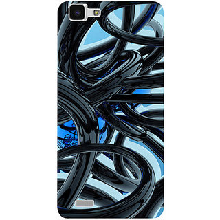 Casotec Black and Blue Rings Design 3D Printed Hard Back Case Cover for vivo Y27L