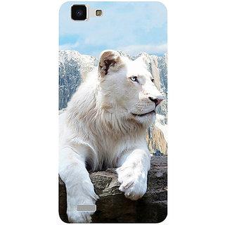 Casotec Snow Lion Design 3D Printed Hard Back Case Cover for vivo Y27L