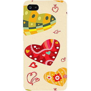 Casotec Hearts Design 3D Printed Hard Back Case Cover for Lenovo ZUK Z2