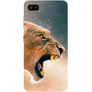 Casotec Angry Lion Pattern Print Design 3D Printed Hard Back Case Cover for Lenovo ZUK Z2