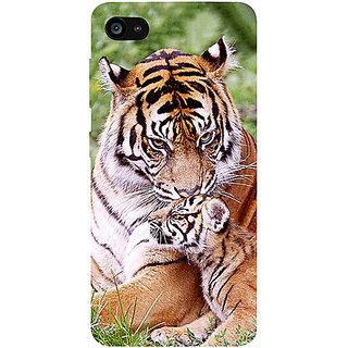 Casotec Tiger Design 3D Printed Hard Back Case Cover for Lenovo ZUK Z2
