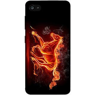 Casotec Fire Horse Design 3D Printed Hard Back Case Cover for Lenovo ZUK Z2
