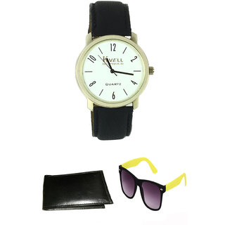 KBP Yellow Wayfare With Mens  Count Watch  Wallet (KBP-WT-004  KBP-S-006)