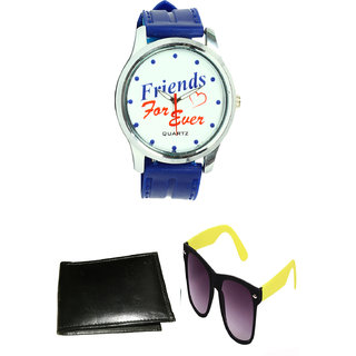 KBP Yellow Wayfare With Mens Fancy Watch  Wallet (KBP-WT-008  KBP-S-006)