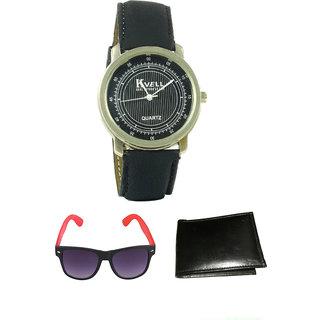 KBP Yellow Wayfare With Mens White Minute Watch  Wallet (KBP-WT-007  KBP-S-007)