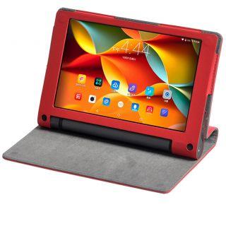 Premium Quality PU Leather Lenovo Yoga Tab3 10 inch Flip Cover + Free Stylus Pen - Red