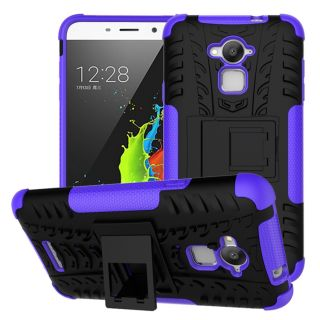 Hyun Pattern ShockProof Kick Stand Back Cover Case for COOLPAD DAZEN NOTE 3 - Purple