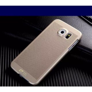 Original Loopee Dotted Brushed Back Case Cover for Samsung Galaxy S6 Edge Plus - Golden
