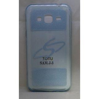 Premium Silicon Soft Case Cover for Samsung J3 - Blue