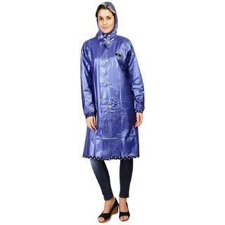 Zeel Reversible Dot Print Raincoat For Women