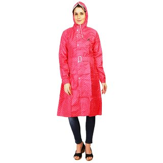 Zeel Reversible Heart Print Raincoat For Women