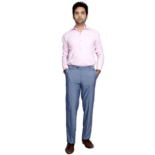 IndiStar Men Rayon Blue Trouser