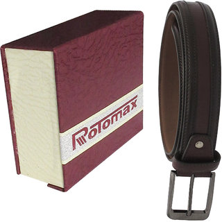 Rotomax BROWN PU 34 Size Mens Belt With Carring Case