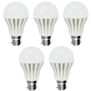 5 Watt Led Bulbs Combo Of 5Pcs