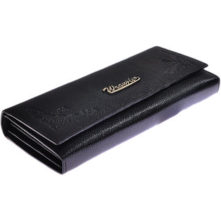 Wrangler WomenS Black Genuine Leather Wallet NM 5