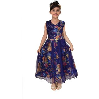 c17b86be4b48 Buy Meia for girls Blue floral print Net frock Online - Get 69% Off