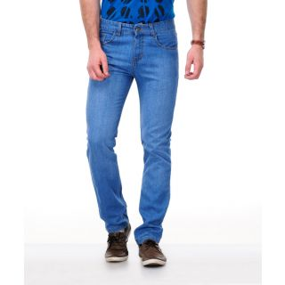 Light Blue Mid Rise Jeans For Mens