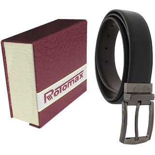 Rotomax Black PU 40 Size Mens Belt With Carring Case
