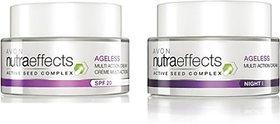 Avon Nutraeffects Ageless Multi-Action Day Cream Spf 20 (50 G) + Night Cream (50 G) (100 G)