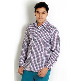 Solemio Purple Trendy Slim Fit Shirt