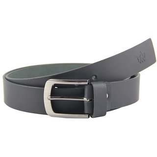 Tom Venice Matte Black Genuine Leather Belt