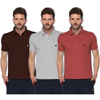 Pack Of 3 Multi Polo Neck Mens T-Shirt by ONN