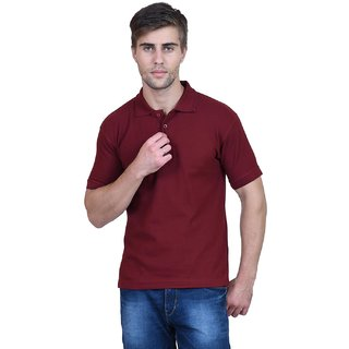 Sublime Blackburne Inc Solid Mens Polo Neck Maroon T-Shirt