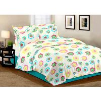 Branded  White 100 Cotton Double Bedsheet With 2 Pillow Cover