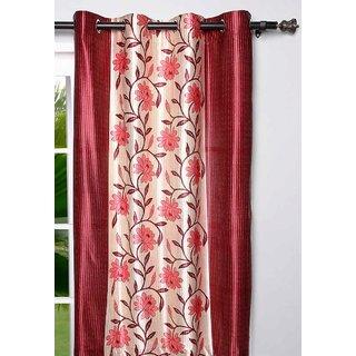 New Elegant Floral Red Door Curtain