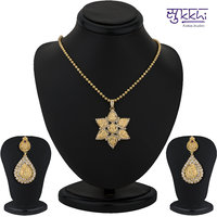 Sukkhi Gold Plated Lord Lakshmi Pendant Set - Option 1