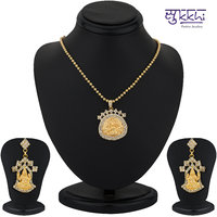 Sukkhi Gold Plated Lord Lakshmi Pendant Set - Option 2