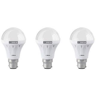 Oreva White 6W LED Lights Pack Of 3
