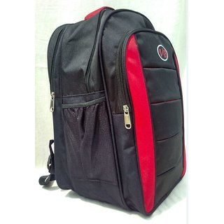 3 compartment Stylish college school Backpack-Red and black bag for boys and girls