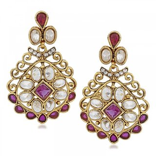 Vidhi Jewels Gold Plated Zinc Casting Earrings for Women VER116G