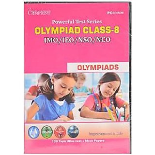 OLYMPIAD CLASS -8 -IMO/IEO/NSO/NCO- POWERFUL TEST PREPARATION CD- EDUCATIONAL CD