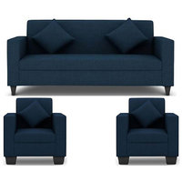 Jakarta 5 Seater (3+1+1) Sofa Set in Royal Blue Upholstery with Cushions