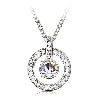 Merastore Special Coins Rhodium   Crystal Alloy Pendant