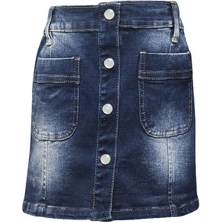 WESTERN BASICS Dark Blue New Girls Denim Shorts