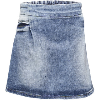WESTERN BASICS Latest Mid Blue Girls Denim Shorts