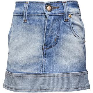 WESTERN BASICS Ice Blue Girls Denim Shorts