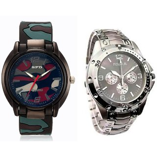 Casual Analog Watch For Men Combo of 2