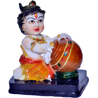 Max India exclusive Ladoo Gopal with base Showpiece