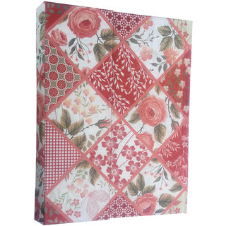 Tashi B6 Diary (HANDMADE PAPER DIARY Pink floral collage Unique gift for him her executive diary for office and meeting by TASHI, Pink)