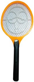 vrct Yellow Rechargeable Electric Mosquito Fly Insect Killer Racket Zapper Bat