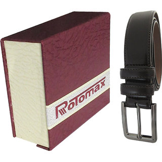 Rotomax Brown PU  40 Size Mens Belt With Carring Case