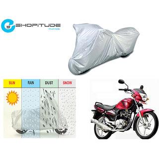 ESHOPITUDE-Silver Bike Body Cover with Mirror Pockets  -Yamaha ALBA