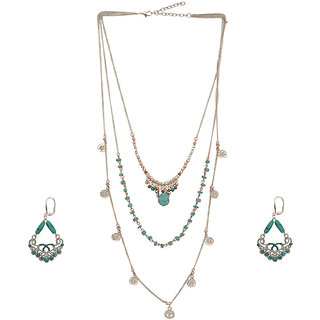 GYPSY HOOP Necklace and Earring set for Women