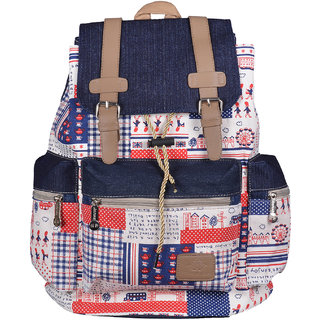Webhin Multi Color Canvas Backpack