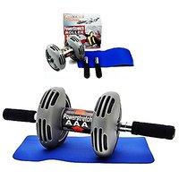 Powerstretch  Wheel Roller Exercise Fitness Slim Body R