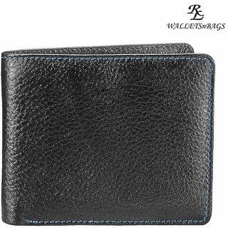 WalletsnBags Hidden Coin Pocket Gents Wallet - Black (W 28)
